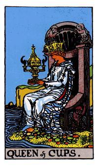Queen of CupsDreamy, calm, poetic, imaginative, kind yet not willing